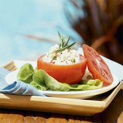 Tarragon Crab Salad in Tomato Cups