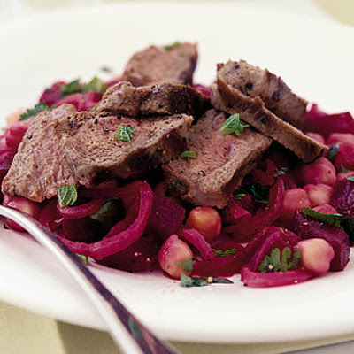 Sizzled Lamb Steaks With Warm Beetroot Salad