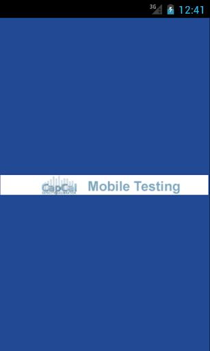 CapCal Mobile Testing