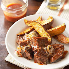 Brisket in Onion-Ale BBQ Sauce