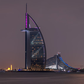 Burj Al Arab Hotel  by Walid Ahmad - Buildings & Architecture Public & Historical ( dubai, d800, uae, night, hotel, nikon, photography )