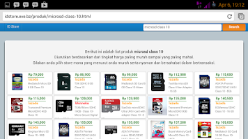 Screenshot of ID Store | Pusat toko online