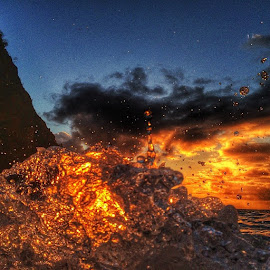 Earth,Water,Fire,Wind!!!!! by Nicolas Donadio - Abstract Water Drops & Splashes