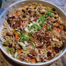 Orzo Salad With Cranberries & Pecans