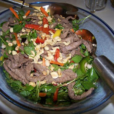 Stir-Fried Beef With Mango Salad