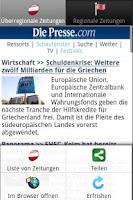 Screenshot of Zeitungen AT frei (Österreich)