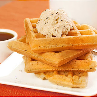 Spiced Vanilla Waffles with Mascarpone