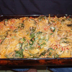 Baked Spaghetti With Chicken and Spinach