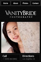 Screenshot of OC Wedding Photographer Vanity