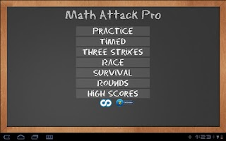Screenshot of Math Attack Pro