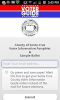 Screenshot of Santa Cruz County Voter Guide
