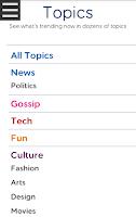 Screenshot of NewsWhip