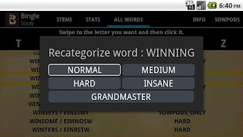 Screenshot of Scrabble Bingo Game Full