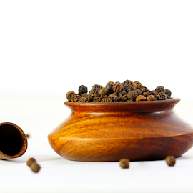 Spices by Dipali S - Food & Drink Ingredients ( cuisine, appetizing, diverse, choice, spice, powder, pepper, seasoning, colourful, ingredient, additives, diversity, healthful, delicious, kitchen, curry, colours, tasty, season, color, bay, herb, food, background, indian spices, healthy, freshness, black pepper )