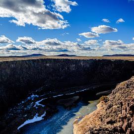 Rio Grande Gorge I by Jeremy Elliott - Landscapes Waterscapes