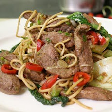 Stir Fried Duck With Noodles
