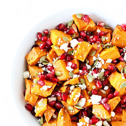 Sweet Potatoes With Coconut, Pomegranate, And Lime Recipe — Dishmaps