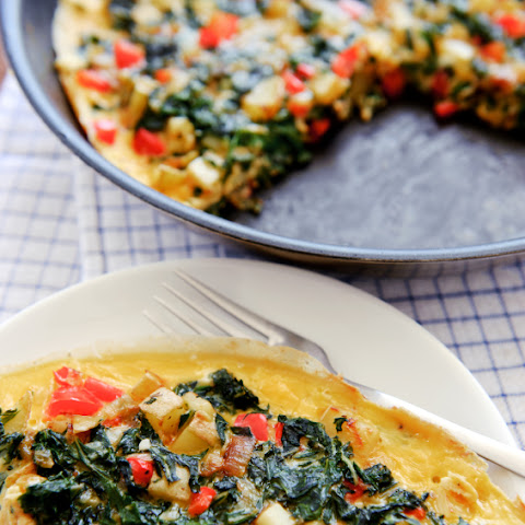 Spinach, Red Pepper & Potato Frittata