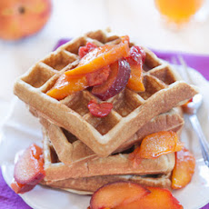 Grain-Free Nut Waffles with Fruit Syrup