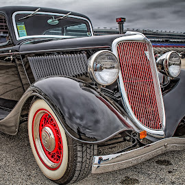 Black Ford Sedan by Ron Meyers - Transportation Automobiles