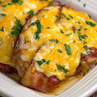 Bacon Cheese Brown Sugar Pork Chops