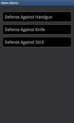 Krav Maga- Weapons