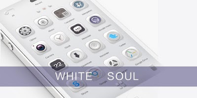 Screenshot of White Soul GO Launcher Theme