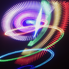 Circles of light ! by Jim Barton - Abstract Patterns ( laser light, colorful, light design, laser design, laser, circles of light, laser light show, light, science )