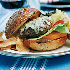 Beef Burgers with Peanut-Chipotle Barbecue Sauce