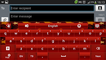 Screenshot of Red Star GO Keyboard theme