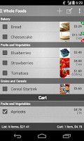 Screenshot of Mighty Grocery Shopping List