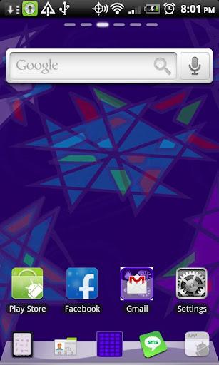 Go Launcher Purple Picasa
