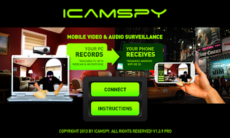 Screenshot of Mobile Video Surveillance