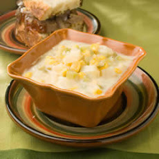 Spicy Cheese, Sweetcorn and Potato Soup