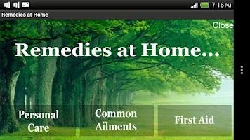 Screenshot of Remedies at Home