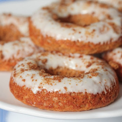 Gingerbread Baked Donuts with Gingersnap Icing