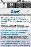 Screenshot of Atos News Reader