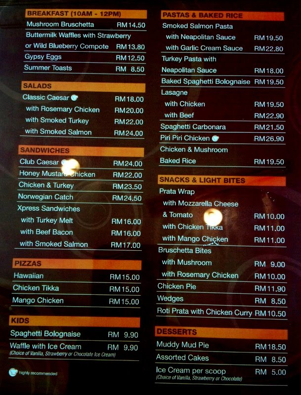 Cafe Express Menu And Prices