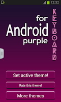 Screenshot of Keyboard for Android Purple