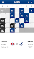 Screenshot of Tampa Bay Lightning Mobile