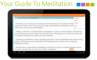 Screenshot of Meditation Knowledge