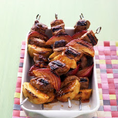Barbecued Pork-and-Apple Kebabs
