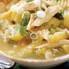 Mean Green Chicken Tortilla Stoup