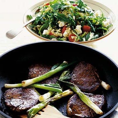 Seared Steak With Rocket & Wheat Salad