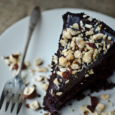 Chocolate Hazelnut Avocado Cake