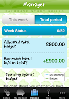 Screenshot of My Student Budget Planner