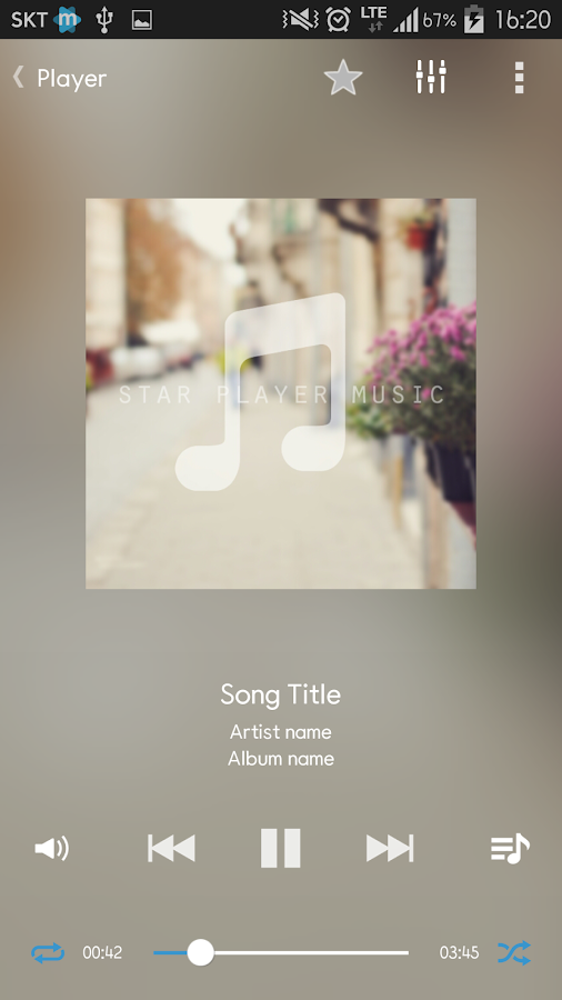 Star Music Player Screenshot 0