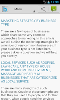Screenshot of Marketing Plan & Strategy