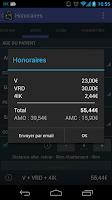 Screenshot of Honoraires