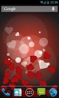 Screenshot of Bouncy Hearts Free LWP